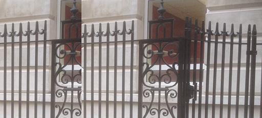Renovated Ornate metal fencing