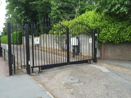Ornate Railings Gate, Automated