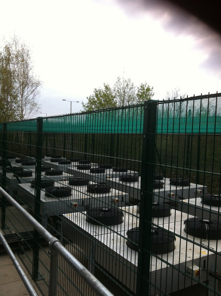 security fencing around lot