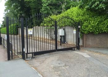 Ornate Railings Gate Automated