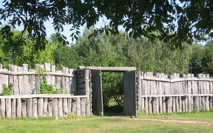 reconstruction of palisade fencing in medieval germany