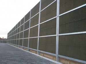 Acoustic fencing close up