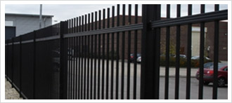 railings page image of steel fencing around car park