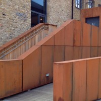 CORTEN STEEL, KINGS YARD ENERGY CENTRE