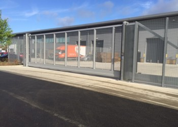 10m x 3m Automated Cantilever Gate Clad 358