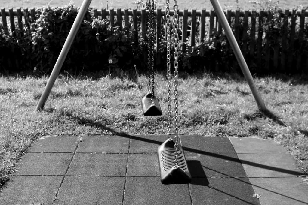 swing in childrens playground