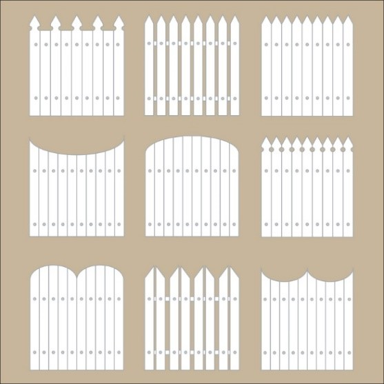 Diagram of different Palisade Fencing